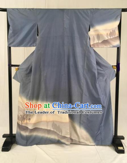 Japanese Ancient Kimono Costume Mikado Yukata Robe Traditional Wafuku Hakama Haori for Men