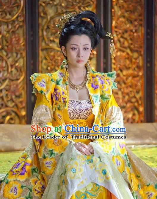 Chinese Song Dynasty Imperial Consort Embroidered Dress Ancient Lady Huarui Replica Costume for Women