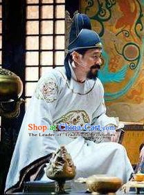 Chinese Song Dynasty First Emperor Zhao Kuangyin Clothing Ancient Imperator Replica Costume for Men