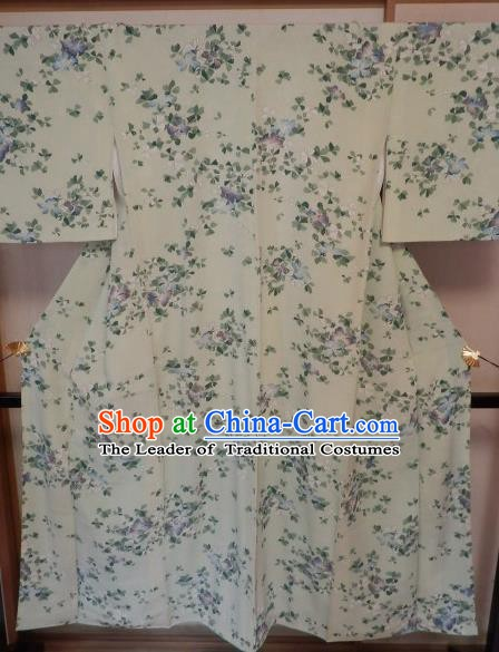 Asian Japan Palace Printing Furisode Kimono Ancient Yukata Dress Formal Costume for Women
