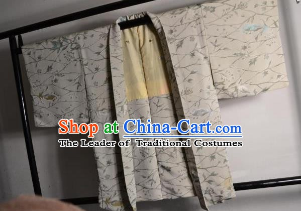 Japanese Ancient Male Kimono Costume Haori Shirts Traditional Wafuku Hakama Yukata for Men