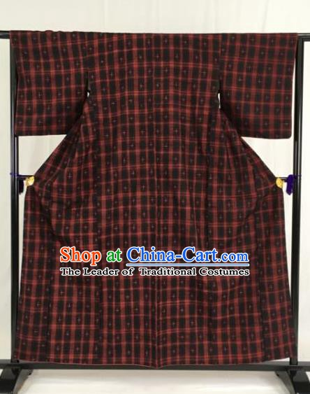 Japanese Traditional Kimono Ancient Yukata Robe Wafuku Hakama Haori Clothing for Men