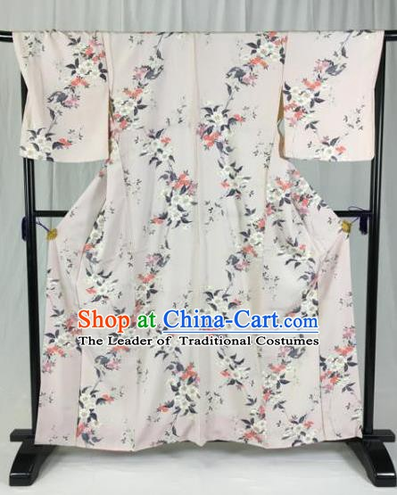 Japan Traditional Palace Kimono Formal Costume Printing Furisode Kimonos Ancient Yukata Dress for Women