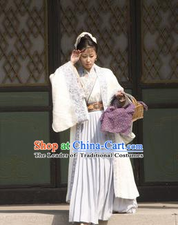 Chinese Ancient Song Dynasty Village Women Wife of Litterateur Su Shi Wang Runzhi Replica Costume for Women