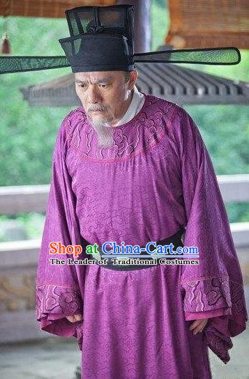 Chinese Song Dynasty Prime Minister Zhao Pu Clothing for Men