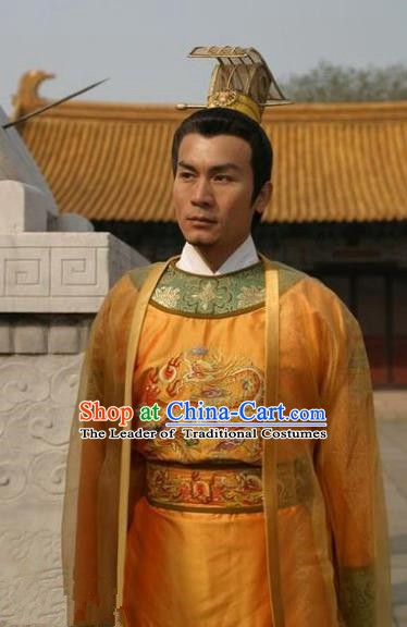 Chinese Ancient Song Dynasty First Emperor Zhao Kuangyin Replica Costume for Men