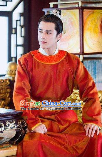 Chinese Song Dynasty Emperor Renzong Zhao Zhen Clothing for Men