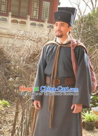 Chinese Ancient Novel Water Margin Character Costume Song Dynasty Mount Liang Hero Dai Zong Replica Costume