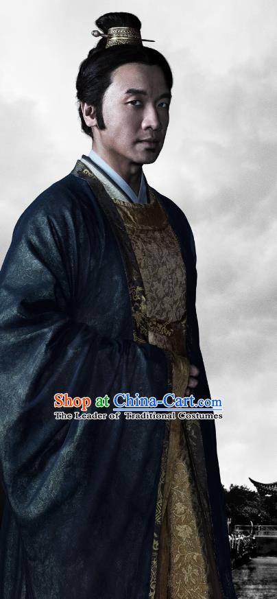 Chinese Ancient Song Dynasty Politician Jia Sidao Replica Costume for Men
