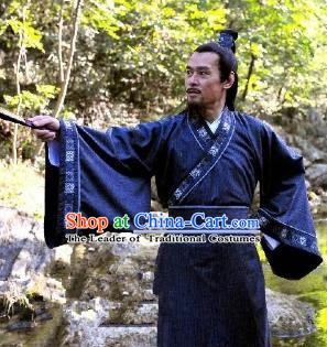 Chinese Ancient Song Dynasty Politician Litterateur Ouyang Xiu Replica Costume for Men