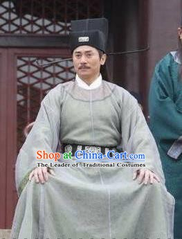 Chinese Ancient Song Dynasty Politician Litterateur Su Zhe Replica Costume for Men