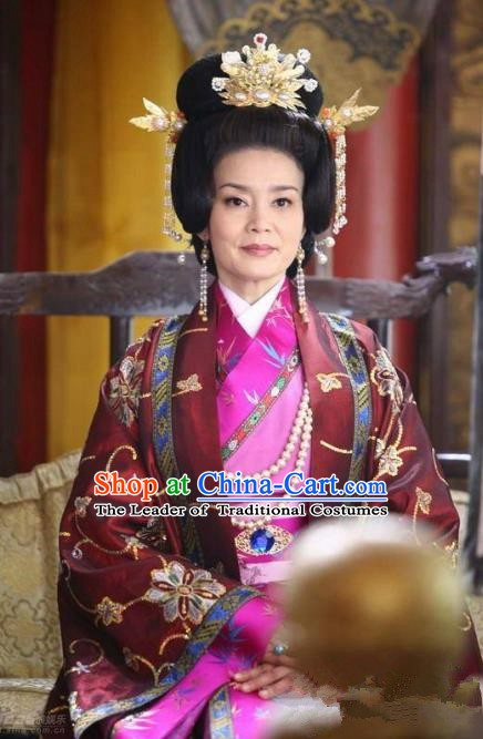 Chinese Ancient Song Dynasty Palace Empress Dowager Embroidered Replica Costume for Women