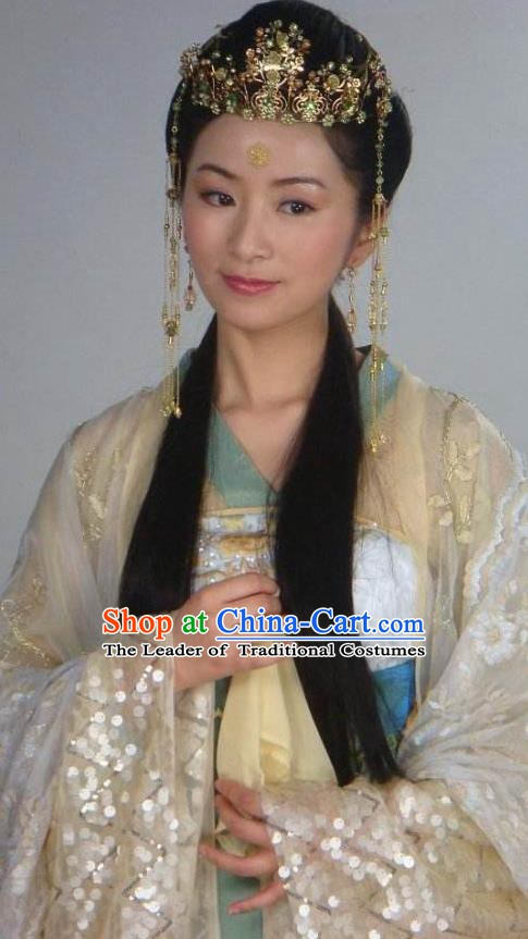 Chinese Ancient Song Dynasty Nobility Lady Embroidered Replica Costume for Women