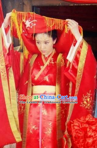 Chinese Ancient Song Dynasty Nobility Lady Wedding Dress Su Xiaomei Embroidered Replica Costume for Women