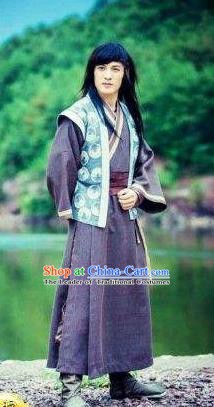 Chinese Ancient Song Dynasty Swordsman Scholar Replica Costume for Men