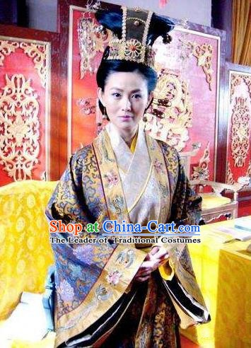 Chinese Ancient Song Dynasty Palace Queen Mother Embroidered Replica Costume for Women