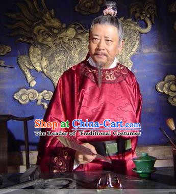 Chinese Ancient Song Dynasty Politician Litterateur Wang An-shi Replica Costume for Men
