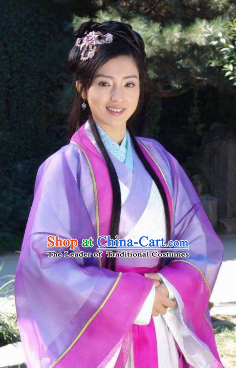 Chinese Ancient Song Dynasty Su Shi Sister Embroidered Replica Costume for Women