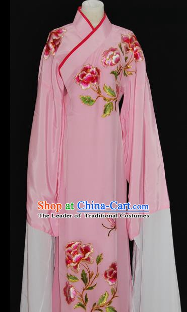 China Traditional Beijing Opera Niche Embroidered Pink Robe Chinese Peking Opera Scholar Costume