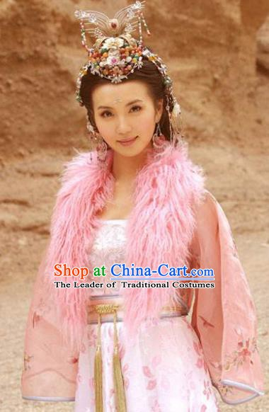 Chinese Ancient Song Dynasty Khotan Kingdom Princess Dress Embroidered Replica Costume for Women