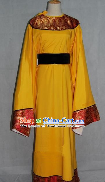 China Traditional Beijing Opera Niche Costume Chinese Peking Opera Eunuch Yellow Robe for Adults