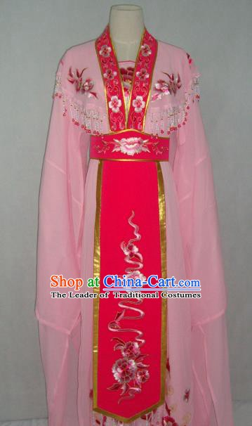 China Traditional Beijing Opera Embroidered Pink Dress Chinese Peking Opera Actress Costume