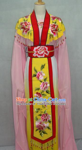 China Traditional Beijing Opera Palace Princess Embroidered Pink Dress Chinese Peking Opera Actress Costume