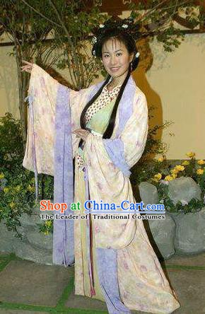 Chinese Traditional Tang Dynasty Novel Romance of the West Chamber Nobility Lady Cui Yingying Replica Costume for Women