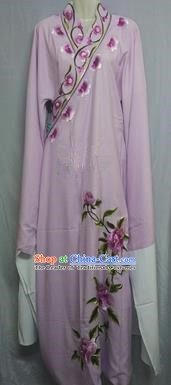 China Beijing Opera Lang Scholar Niche Costume Purple Embroidered Peony Robe for Adults