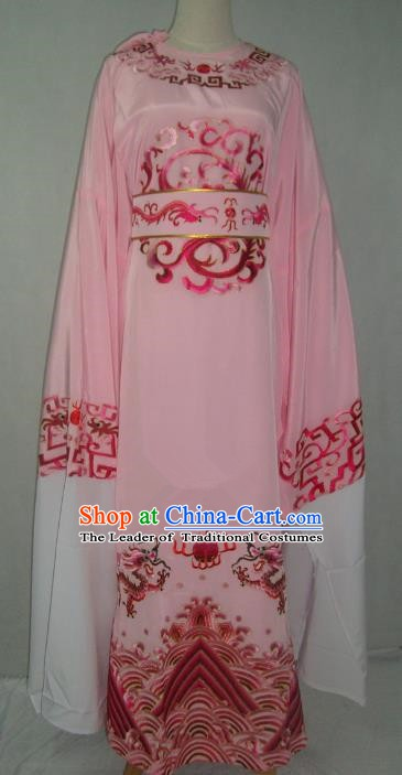 Traditional Chinese Beijing Opera Niche Costume Beijing Opera Embroidered Pink Robe for Adults
