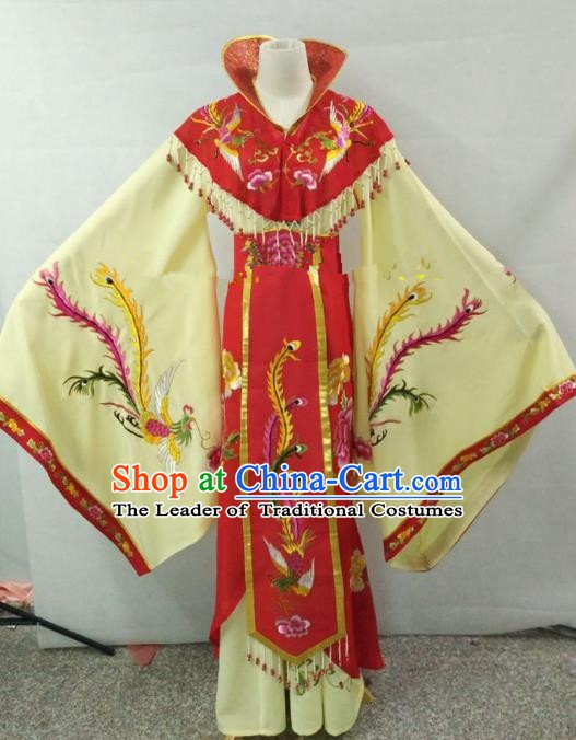 Traditional China Beijing Opera Empress Embroidered Dress Chinese Peking Opera Diva Costume