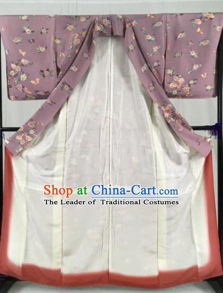 Japan Traditional Geisha Kimono Formal Costume Palace Furisode Kimonos Ancient Yukata Dress for Women