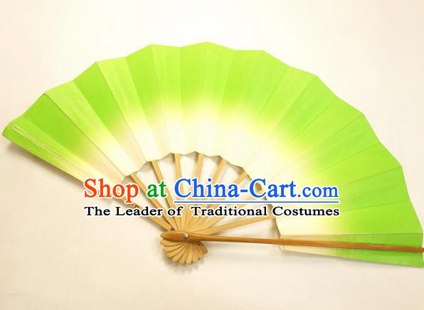 Asian Japanese Dance Green Fans Folding Fan Traditional Fans for Women