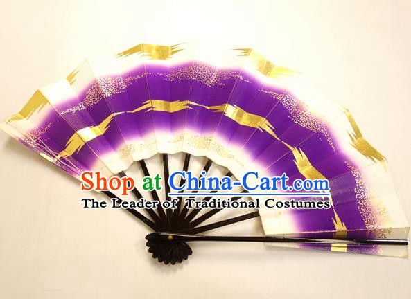 Asian Japanese Dance Purple Fans Folding Fan Traditional Fans for Women