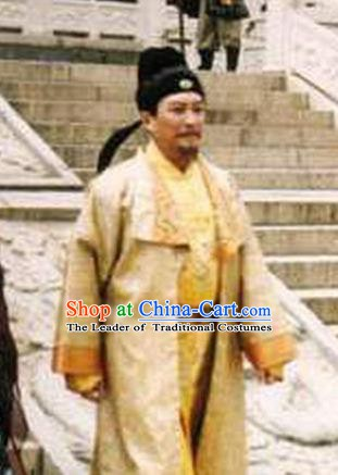 Chinese Ancient Tang Dynasty Emperor Taizong Li Shimin Replica Costume for Men