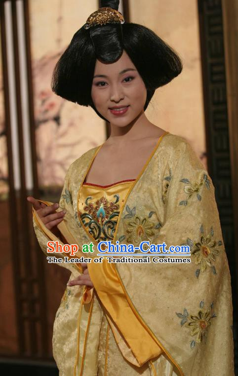 Ancient Chinese Tang Dynasty Empress Zhangsun Hanfu Dress Replica Costume for Women