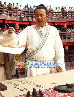 Chinese Ancient Tang Dynasty Romanticism Poet Li Bai Replica Costume for Men