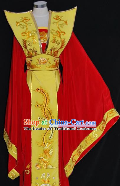 Traditional Chinese Beijing Opera Queen Dress Peking Opera Diva Embroidered Costume