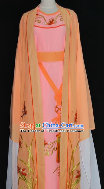 Traditional Chinese Beijing Opera Orange Costume Peking Opera Niche Clothing for Adults