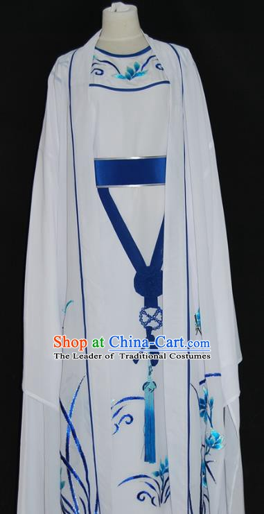 Traditional Chinese Beijing Opera White Costume Peking Opera Niche Clothing for Adults