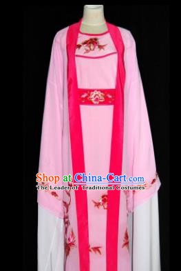 Traditional Chinese Beijing Opera Scholar Pink Robe Costume Peking Opera Niche Clothing for Adults