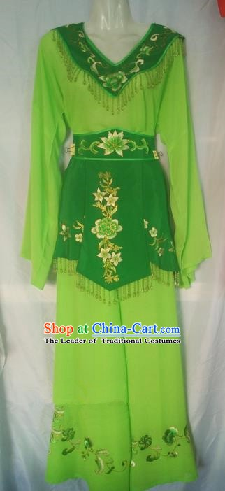 Traditional Chinese Beijing Opera Maidservants Costume Peking Opera Young Lady Dress