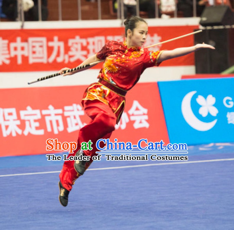 Top Custommade Kung Fu Suit Kung Fu Uniform Chinese Jacket Taiji Clothes Dress Dresses Kung Fu Clothing Embroidered Tai Chi Suits Custom Kung Fu Embroidery Uniforms