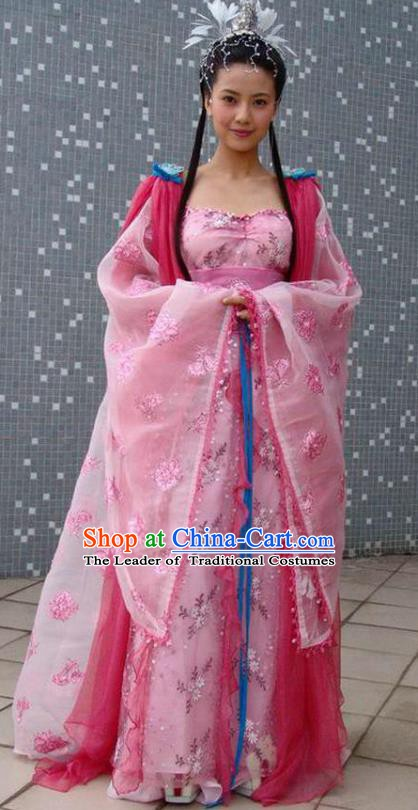 Ancient Chinese Tang Dynasty Crown Princess of Li Jiancheng Hanfu Dress Replica Costume for Women