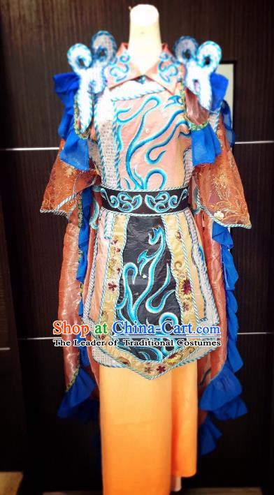 Traditional Chinese Beijing Opera Female Warrior Costume Professional Peking Opera Clothing