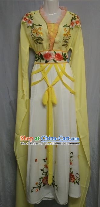 Traditional Chinese Beijing Opera Nobility Lady Costume Professional Peking Opera Diva Yellow Dress