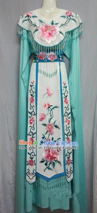 Top Grade Chinese Beijing Opera Actress Costume China Professional Peking Opera Diva Green Dress
