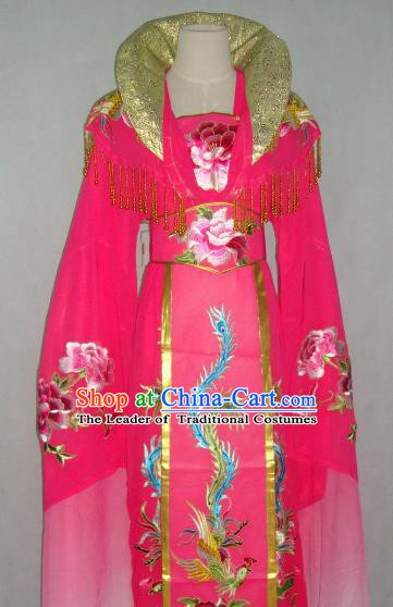 Top Grade Chinese Beijing Opera Actress Costume China Peking Opera Imperial Empress Pink Dress