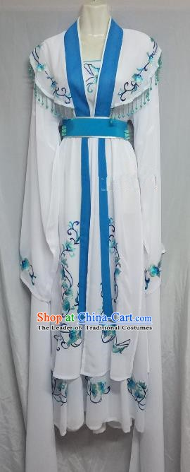 Top Grade Chinese Beijing Opera Actress White Dress China Peking Opera Diva Costume
