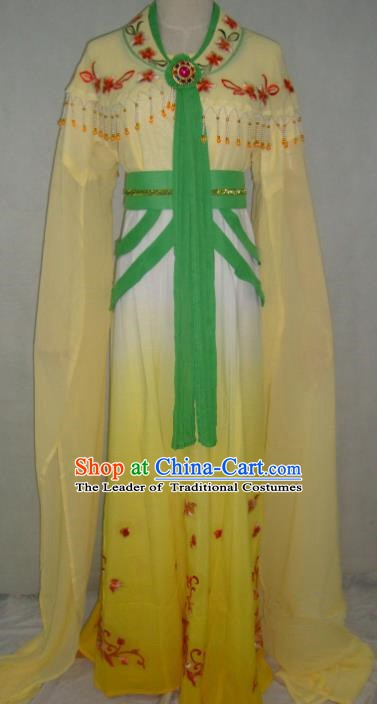 Top Grade Chinese Beijing Opera Princess Costume China Professional Peking Opera Yellow Dress